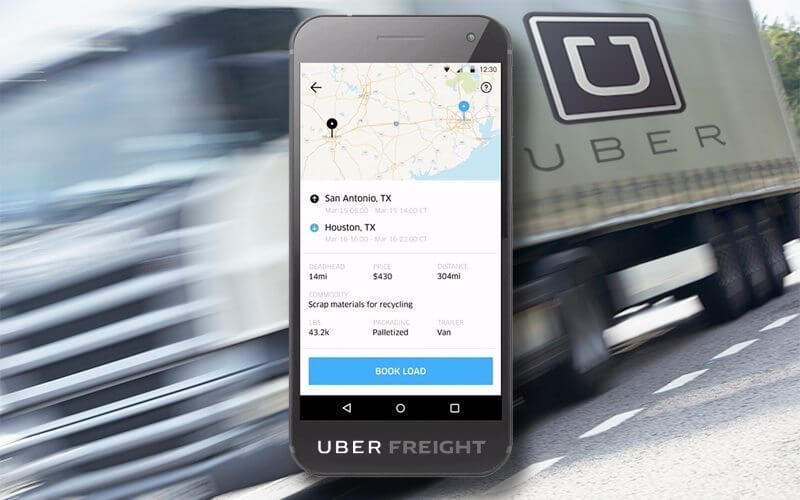 self-driving trucks from uber use uber freight