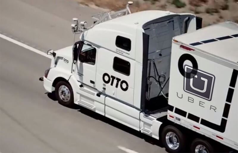 Self-driving trucks from Uber are taking over
