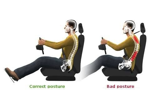bad posture while driving