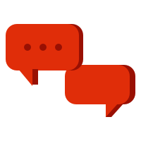 Logo of speech bubbles